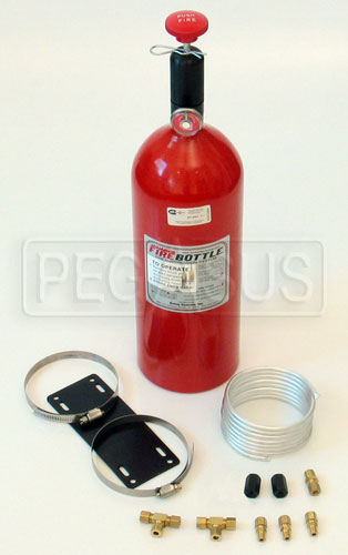 Large photo of (H) FireBottle 10lb. FE-36 Push System, Pegasus Part No. 2035-009