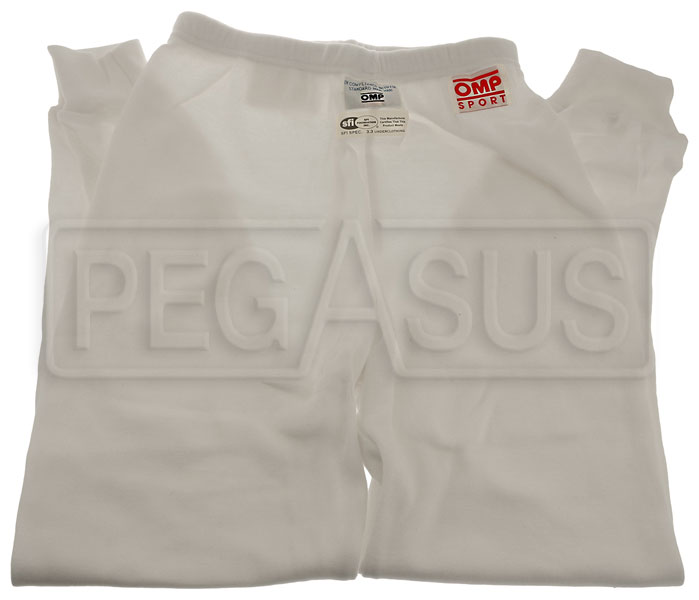Large photo of OMP Sport Line Nomex Underwear Pant, FIA,  SFI 3.3, Pegasus Part No. 2153-013-Size