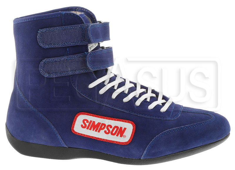 Large photo of Simpson Hi-Top Driving Shoe, SFI Approved, Pegasus Part No. 2182-Size-Color