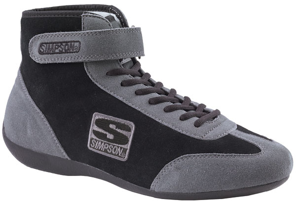 Large photo of Simpson Mid-Top Driving Shoe, SFI Approved, Pegasus Part No. 2187-001-Size-Color