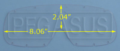 Large photo of Standard Replacement Lens for Large Goggles (#2268), Pegasus Part No. 2269-Tint