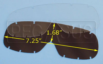 Large photo of Standard Replacement Lens for Compact Goggles (#2274), Pegasus Part No. 2275-Tint