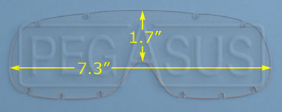 Large photo of Anti-Scratch Clear Lexan Lens for Compact Goggle (#2274), Pegasus Part No. 2276-Tint