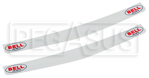 Large photo of Bell Visor Strip for Full-Face Helmets, White, Pegasus Part No. 2312-009