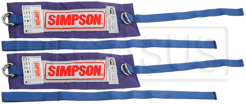 Large photo of Simpson Arm Restraints, 2 Separate Straps, SFI 3.3, Pegasus Part No. 2322-Color