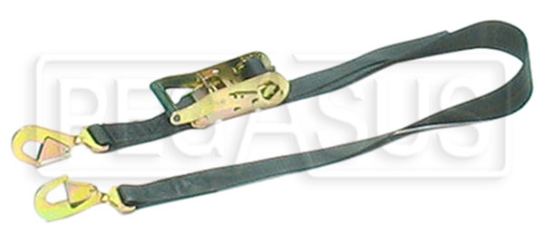 Large photo of Heavy-Duty Ratchet Tie Down with 2 Snap Hooks, Pegasus Part No. 2351-Length