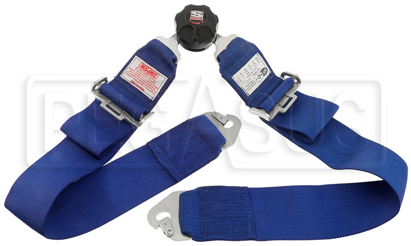 "Large photo of Simpson Rotary Camlock Lap Belt, Snap-In, Pull-Down, 22""-52"", Pegasus Part No. 237-15-Color"
