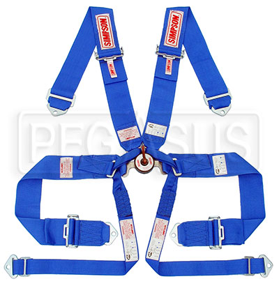 Large photo of Simpson Camlock 6 Point Formula Car Harness w/ D-Ring Lap, Pegasus Part No. 2375-Color