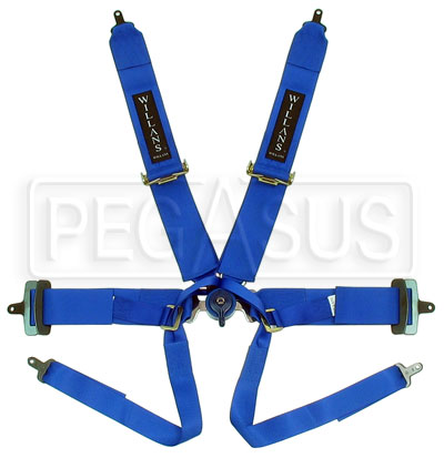 Large photo of Willans 6-Point Formula Car Harness w/ D-Ring Lap Belt - FIA, Pegasus Part No. 2378-Color