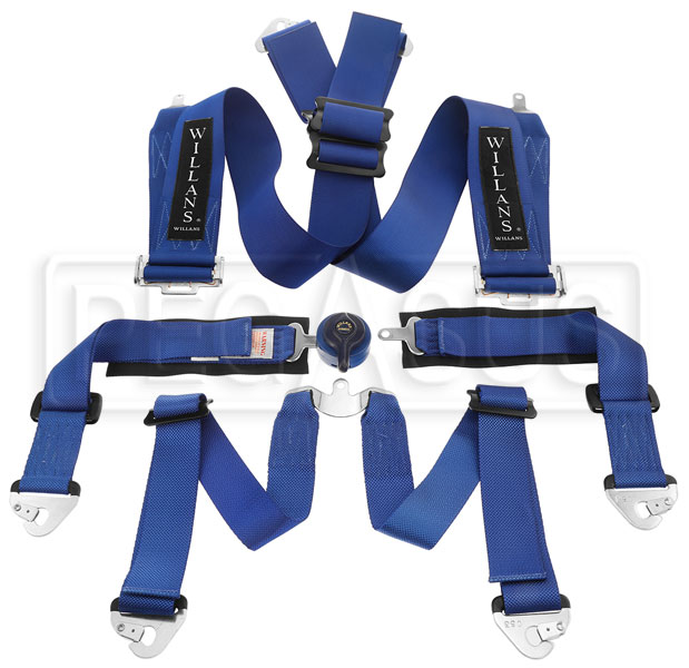 "Large photo of Willans Club T6 Saloon Harness, 3"" Shoulder / 2"" Lap, FIA, Pegasus Part No. 2379-009-Color"