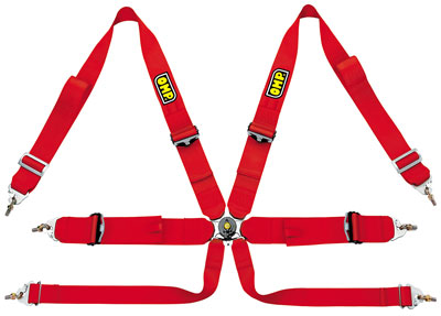 Large photo of OMP 6-Point Camlok Competition Harness- FIA Approved, Pegasus Part No. 2379-201-Color