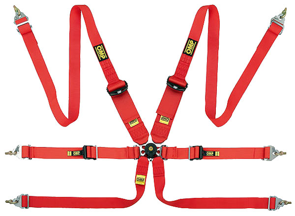 Large photo of OMP EVO Sedan/HANS Camlok Competition Harness- FIA Approved, Pegasus Part No. 2379-209-Color