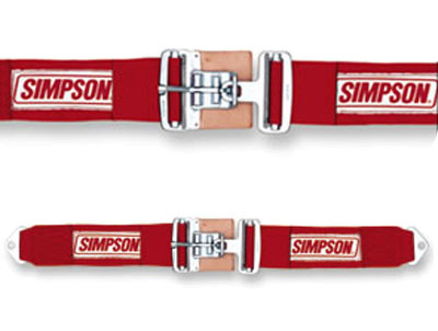 "Large photo of Simpson Latch F/X Bolt-In Lap Belt, 36""-62"", Pull-Down, Pegasus Part No. 239-19-Color"
