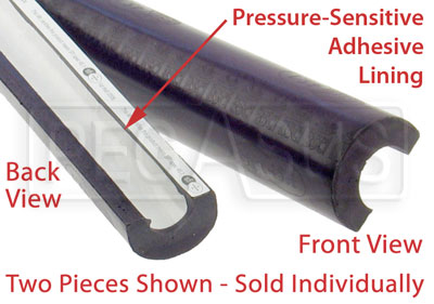 "Large photo of SFI Roll Bar Padding for 1.62 to 2.00"" Bar, 3 foot length, Pegasus Part No. 2395-Color"