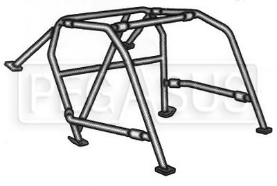 Large photo of Bolt-in Roll Cage Kit, Pegasus Part No. 2407-Diameter-TubeType