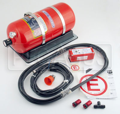 Large photo of (H) SPA Slimline AFFF Fire Suppression System, Pegasus Part No. 2437-Size-Actuation