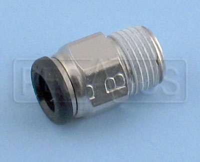 "Large photo of SPA 1/8 x 6mm (1/4"") Push-in Fitting for Discharge Nozzle, Pegasus Part No. 2458"