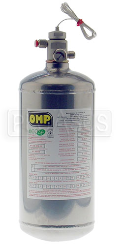 Large photo of (H) Clearance OMP AFFF Fire System, 2.8L Slimline Bottle, EL, Pegasus Part No. CL2465-005-DATE