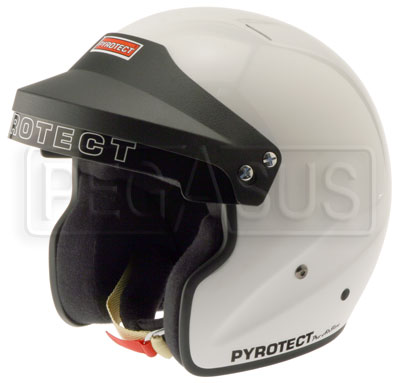 Large photo of Pyrotect Open Face Helmet Snell SA2010, White, size  XSmall, Pegasus Part No. 2475-S10-Size-Color