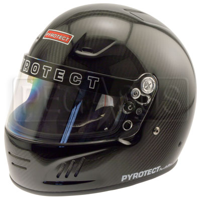 Large photo of Pyrotect Carbon Fiber Full Face Helmet, SA2010 size XSmall, Pegasus Part No. 2476-S10-Size