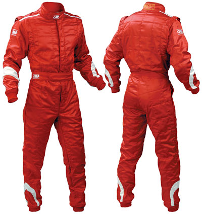 Large photo of OMP Re-Act Suit, 3 Layer Nomex, FIA 8856-2000, Pegasus Part No. 2590-Size-Color
