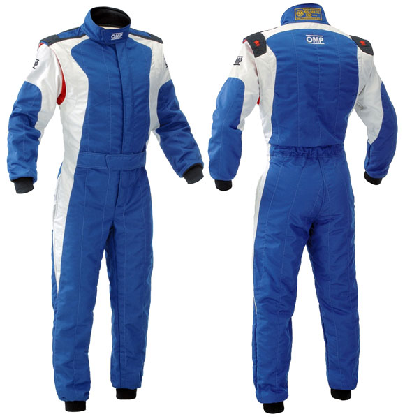 Large photo of OMP Dart Suit, 2 Layer Nomex, FIA 8856-2000, Pegasus Part No. 2606-003-Size-Color
