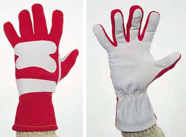 Large photo of OMP Contact Nomex Driving Gloves, ISO 6940, Pegasus Part No. 2614-Size-Color