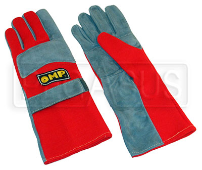 Large photo of OMP Professional Nomex Driving Gloves, FIA 86 / ISO 6940, Pegasus Part No. 2618-Size-Color