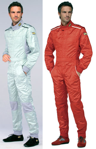 Large photo of OMP Tecnica Light Drivers Suit, 3 Layer Nomex, FIA 8856-2000, Pegasus Part No. 2622-Size-Color