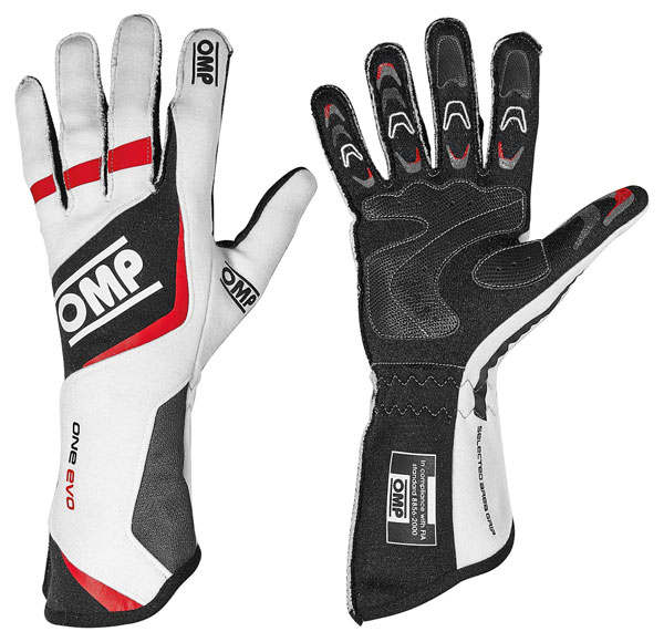 Large photo of OMP One Evo Nomex Driving Glove, FIA 8856-2000, Pegasus Part No. 2627-001-Size-Color
