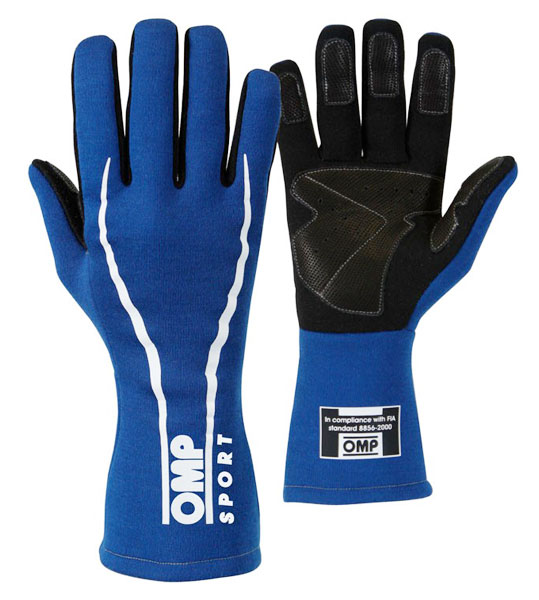 Large photo of OMP Sport Line Gloves, SFI 3.3/5 and FIA 8856-2000, Pegasus Part No. 2641-Size-Color