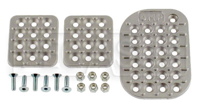 Large photo of OMP Cast Aluminum Pedal Pad Kit, Wide Throttle, Pegasus Part No. 2701