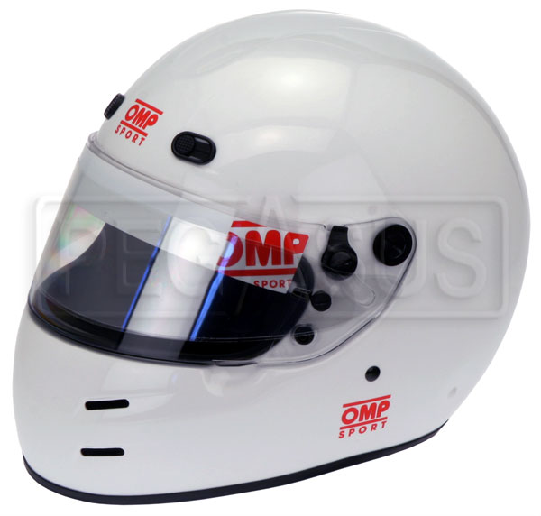 Large photo of OMP Sport Full Face Helmet, Snell SA2010 Approved, Pegasus Part No. 2778-S10-Size-Color
