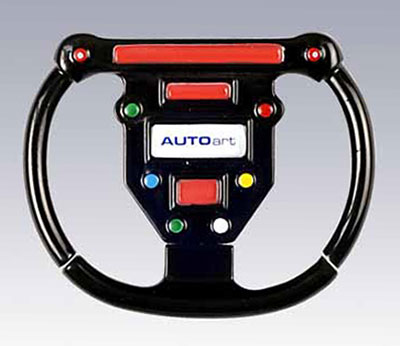 Large photo of F1 Steering Wheel Keyring, Pegasus Part No. 2819
