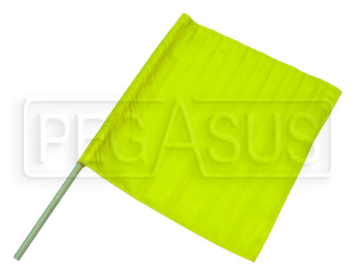"Large photo of Clearance 24"" x 23"" Nylon Yellow Flag, No Handle, Pegasus Part No. CL2834"