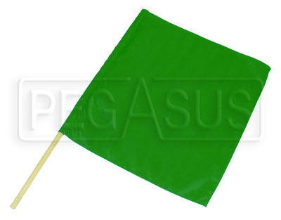 "Large photo of 23"" x 24"" Nylon Green Flag, Pegasus Part No. 2835"