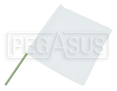 "Large photo of 23"" x 24"" Nylon White Flag, Pegasus Part No. 2838"