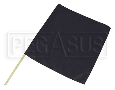 "Large photo of 23"" x 24"" Nylon Black Flag, Pegasus Part No. 2839"