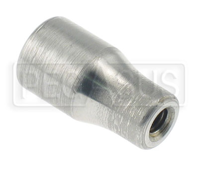 "Large photo of Weldable Tube End, 10-32 Thread x 3/8"" Rod, Pegasus Part No. 3051-Tube Size-Thread"