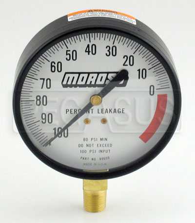 Large photo of Replacement Gauge for Moroso Engine Leak-Down Tester, Pegasus Part No. 3137