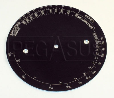 Large photo of Dunlop Part No. DA 3 , Bottom Dial, Pegasus Part No. 3141-DA 3