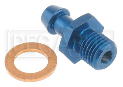 "Large photo of 7/16-20 Male to 5/16"" Hose Barb - Aluminum, Pegasus Part No. 3207"