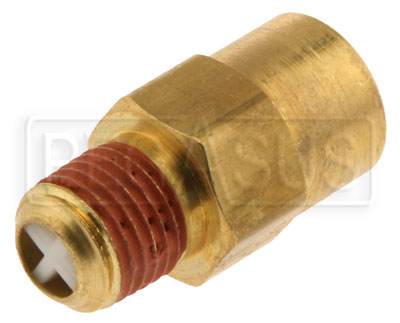 Large photo of Compact Air Gauge Check Valve, 1/4 NPT Inlet/Outlet, Pegasus Part No. 3228-500