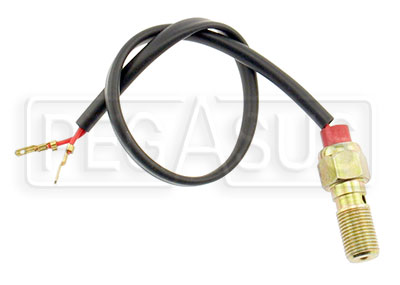 Large photo of Single Banjo Bolt with Brake Light Switch, 7/16-24 Thread, Pegasus Part No. 3242-014