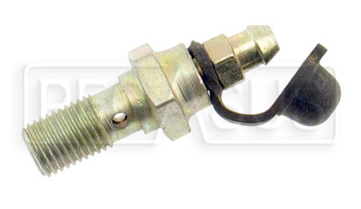 Large photo of Single Banjo Bolt with Bleeder Screw, 3/8-24 Thread, Pegasus Part No. 3242-019