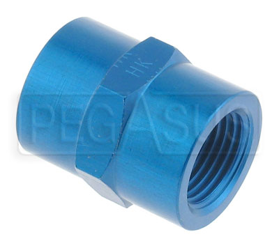 Large photo of AN910 Female Pipe Coupler, Aluminum, Pegasus Part No. 3280-Size