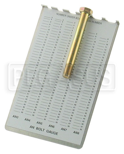 Large photo of Pocket AN Bolt Identification Gauge, Pegasus Part No. 3319