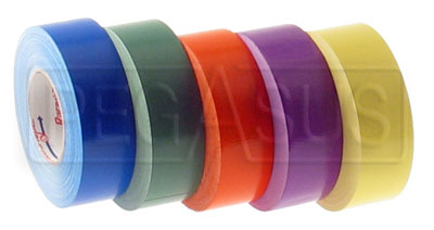 Large photo of Racers Tape, 2 inch x 60 Yard Roll, Pegasus Part No. 3321-Color