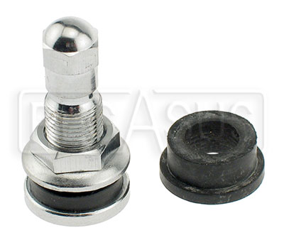 Large photo of Tire Valve Stem with nut on outside, Each, Pegasus Part No. 3334