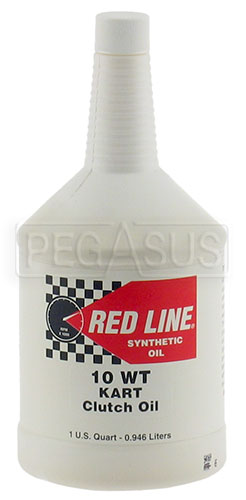 Large photo of Red Line Synthetic 10wt Kart Clutch Oil, Quart Bottle, Pegasus Part No. 3350